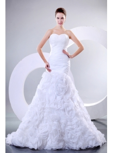 2014 Romantic Couture Bridal Gowns Sydney with Flowers