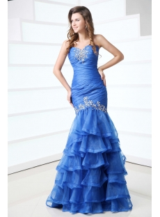 Amazing Periwinkle Fishtail Pageant Dress