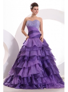 Amazing Purple Colorful Quinceanera Dress with Corset