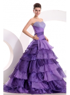 amazing purple colorful quinceanera dress with corset1st