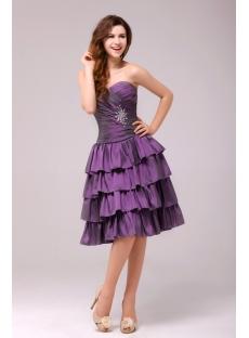 Beautiful Grape Strapless Homecoming Dress