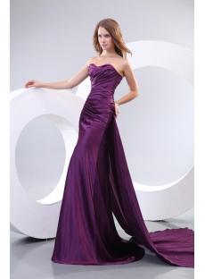 Best Sheath Purple Evening Dresses