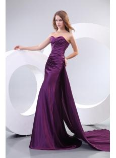 Best Sheath Purple Evening Dresses