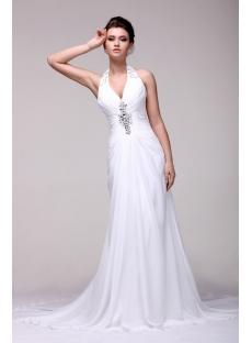 Brilliant Halter Summer Beach Wedding Dress 2014