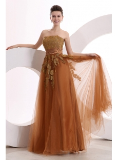 Brown Strapless Popular fiesta de quince Dress 2011