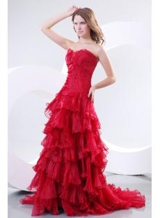 Burgundy Sweetheart A-line Formal Dress Australia Online