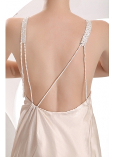 Champagne Sexy Backless Celebrity Gown