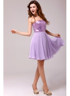 Charming Lilac Short Sweet 16 Dress