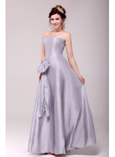 Charming Silver Strapless A-line Graduation Dress Cheap