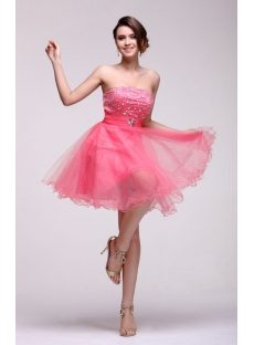 Chic Sweet Sixteen Party Dress Short