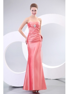 Coral Sheath Stunning Evening Dresses