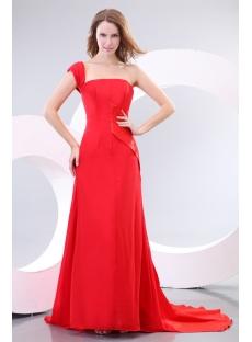Elegant A-line One Shoulder Red Carpet Celebrity Dresses 2012