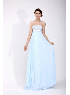 Elegant Light Blue Military Christmas Party Dresses