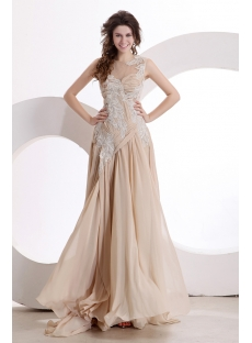 Exquisite Illusion Evening Dress 2014 New Arrival