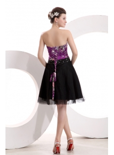 Fancy Printed Short Homecoming Dress