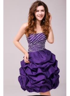 Fancy Purple Bubble Short Cocktail Dress 1st Dress Com
