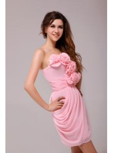 Fashionable Pink Column Homecoming Dress