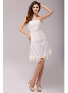 Fresh Ivory Strapless Short Prom Dress 2011