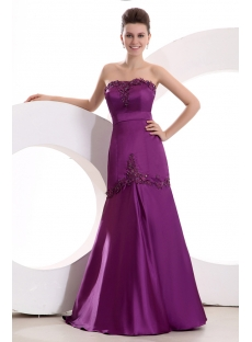 Fuchsia Sweetheart Little A-line Prom Dress