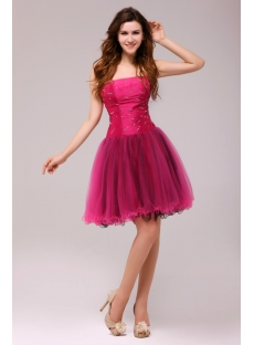 Fuchsia and Black Gorgeous Junior Prom Dresses Short 2013