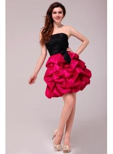 Gorgeous Strapless Pick up Short Cocktail Dress