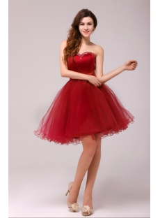 Graceful Burgundy Sweetheart Cocktail Dresses for Juniors:1st ...