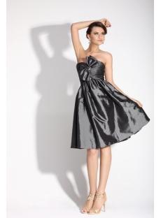 Gray Strapless Short Junior Prom Dress