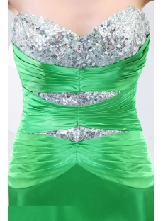 Green Fashion Evening Dresses with Slit