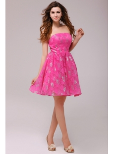 Hot Pink Homecoming Dresses Cheap - Prom Stores