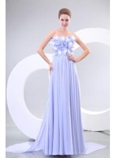 Lavender Strapless Chiffon Evening Dresses Australia Online