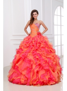Luxury and Colorful Princess Quinceanera Dress 2014