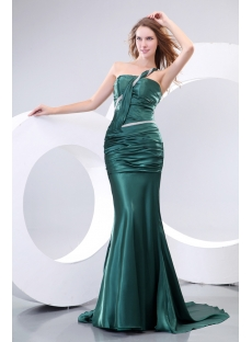 Olive Green Sheath Beach Evening Dress 2014 Spring