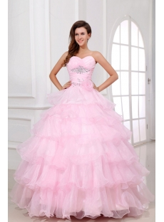 Pink Long Pretty baile de debutantes Dress