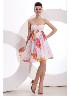 Pink Sweet Strapless Short Homecoming Dress
