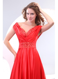 Plunge V-neckline Ladies Evening Dresses plus sizes with Off Shoulder