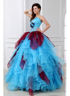 Popular Multi-Colored Puffy Quinceanera Dresses