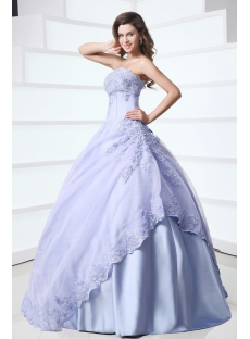 Popular Strapless Lavender 15 Quinceanera Gown
