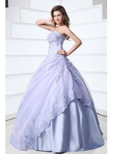 Popular Strapless Lavender 15 Quinceanera Gown
