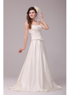 pretty casual embroidery plus size bridal gowns with