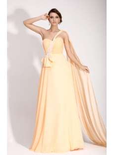 Pretty Coral Sweetheart Prom Dress with One Shoulder