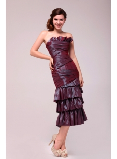 Pretty Sheath Tea Length Party Dress for Mother of Groom