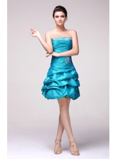 Pretty Teal Colored Cocktail Dresses