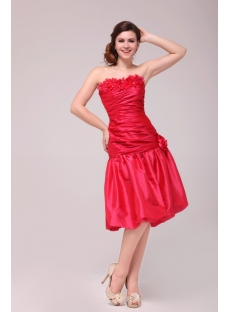 Pretty Watermelon Homecoming Dresses Short Strapless