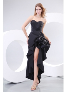 Romantic Black Sexy Evening Dresses with Slit