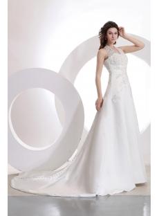 Romantic Halter Lace A-line Wedding Gown 99501
