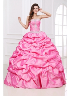 Romantic Long Pink festa de debutantes Dress