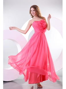 Romantic Sweetheart Chiffon Ankle Length Military Prom Dress