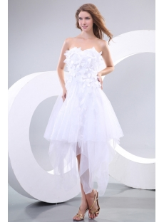 Romantic White Short Gothic Prom Dresses