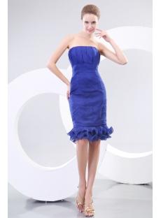 Royal Blue Strapless Formal Mother of Groom Dresses Australia