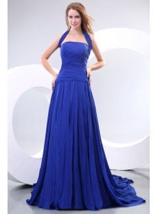 Royal Halter Long Princess Prom Dresses